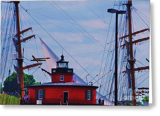 City Scapes Greeting Cards Greeting Cards - Lighthouse Batimore Greeting Card by Marcus Dagan
