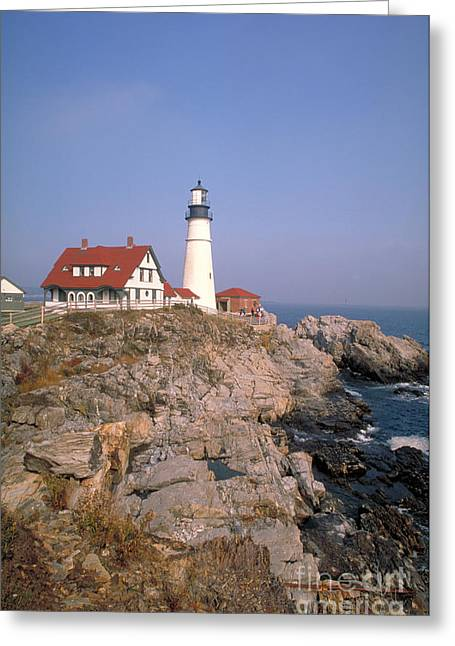 Maine Shore Greeting Cards - Lighthouse Greeting Card by Bill Bachmann