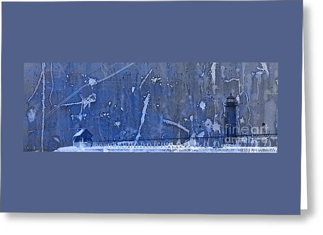 Lighthouse Blues Greeting Card by John Stephens