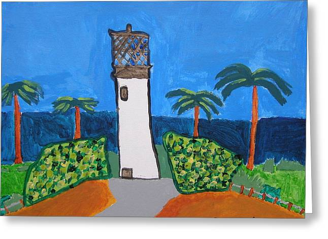 Brandon Drucker Greeting Cards - Lighthouse Greeting Card by Brandon Drucker