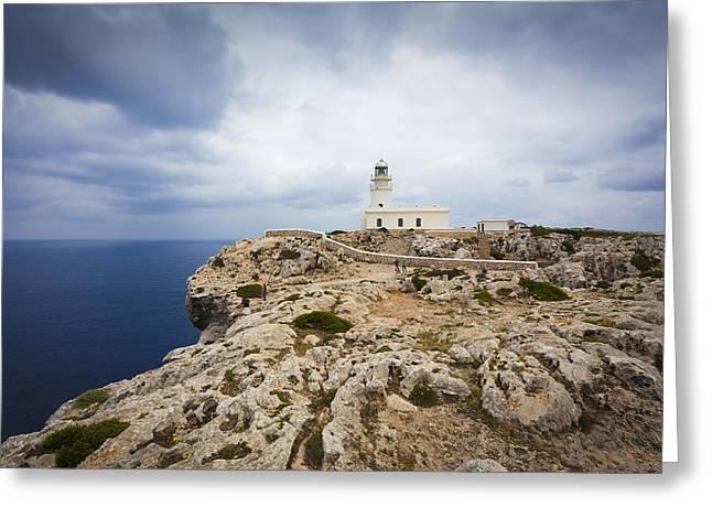 Lighthouse Caballeria Greeting Card by Antonio Macias Marin