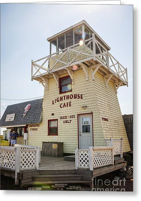Small Towns Greeting Cards - Lighthouse cafe in North Rustico Greeting Card by Elena Elisseeva