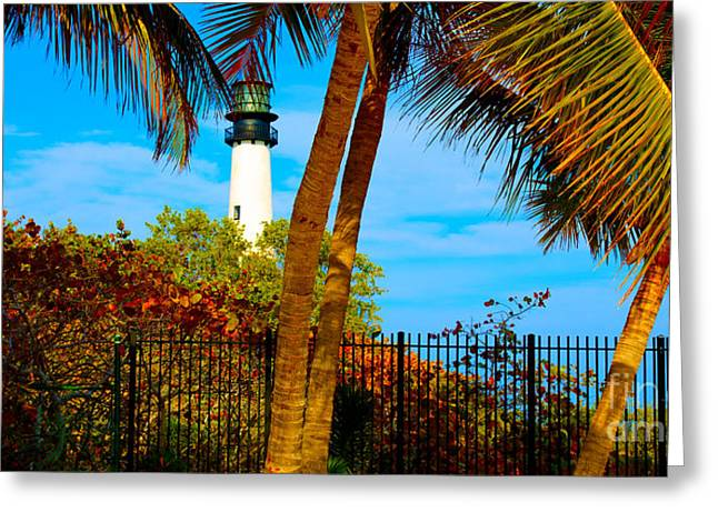 Florida Pyrography Greeting Cards - Lighthouse Greeting Card by Dan Hilsenrath