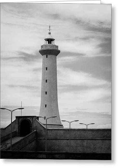 Stones Greeting Cards - Lighthouse Greeting Card by Desislava Panteva