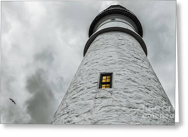 New England Lighthouse Greeting Cards - Lighthouse Greeting Card by Diane Diederich