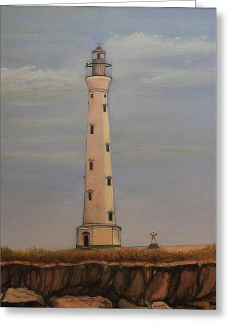 Dutch Lighthouse Greeting Cards - Lighthouse Greeting Card by Donald W White