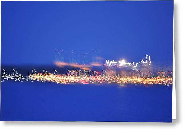 Digital Art Greeting Cards - Lighthouse Heartbeat Greeting Card by Regina Iakushova