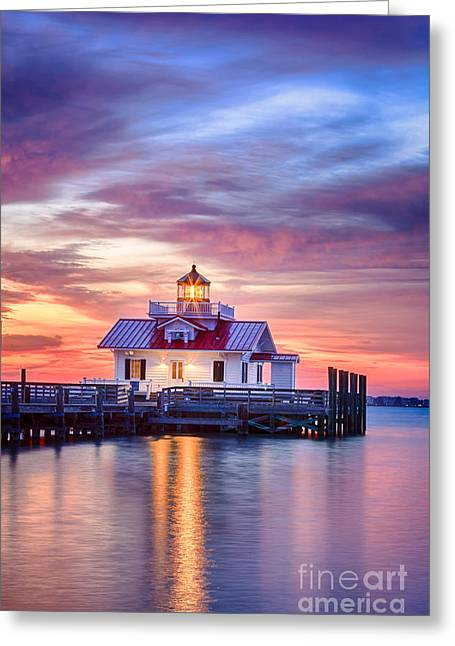 Beach Cottage Style Greeting Cards - Lighthouse impression Greeting Card by Dan Waters
