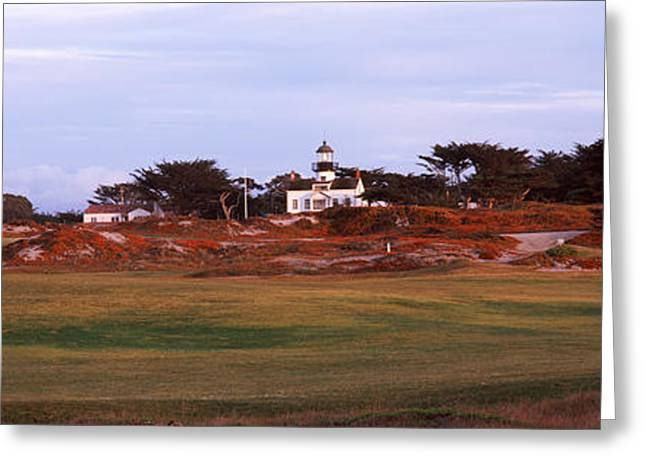 Pacific Grove Greeting Cards - Lighthouse In A Field, Point Pinos Greeting Card by Panoramic Images