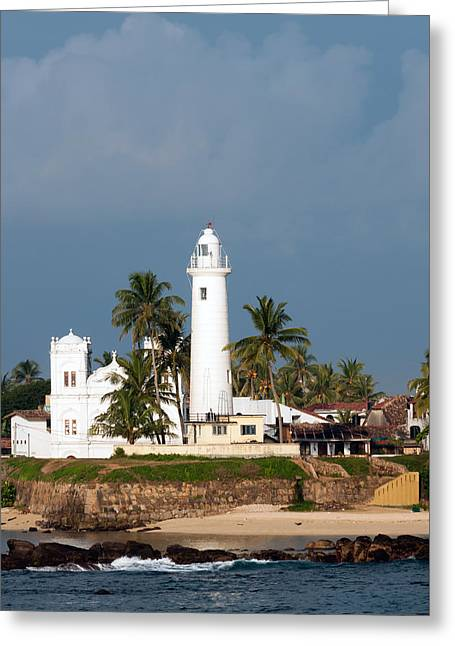 Dutch Lighthouse Greeting Cards - Lighthouse in Galle Sri Lanka Greeting Card by Beth Wolff