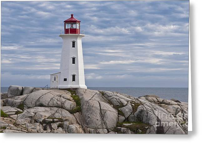 Beautiful Scenery Greeting Cards - Lighthouse In Peggys Cove Greeting Card by Bill Bachmann