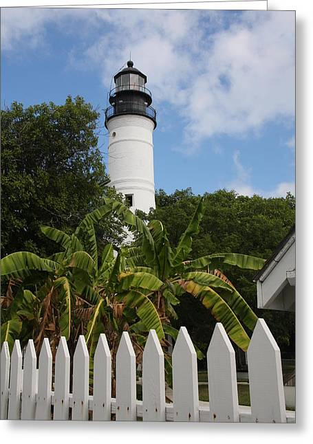 Vaction Greeting Cards - Lighthouse Key West Greeting Card by Christiane Schulze Art And Photography