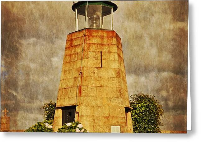 Lighthouse - La Coruna Greeting Card by Mary Machare