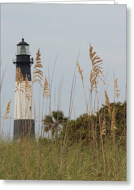 Lighthouse By The Sea Greeting Cards - Lighthouse Greeting Card by Linda Montesano