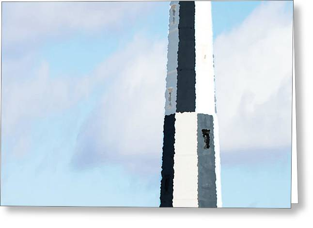 Lighthouse Living - New Cape Henry Lighthouse Greeting Card by Gregory Ballos