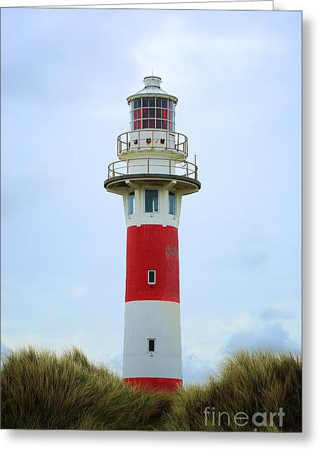 Lighthouse Newport Greeting Card by LHJB Photography