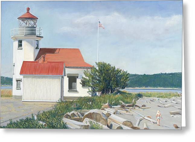 Birdseye Greeting Cards - Lighthouse  Greeting Card by Nick Payne