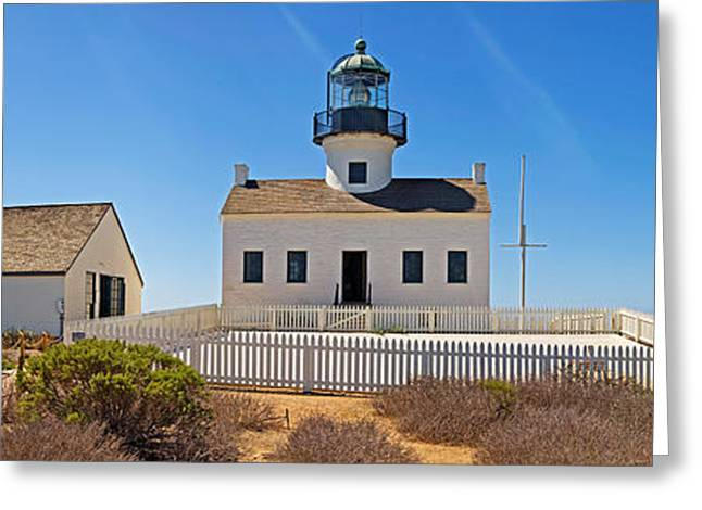 Point Loma Greeting Cards - Lighthouse, Old Point Loma Lighthouse Greeting Card by Panoramic Images