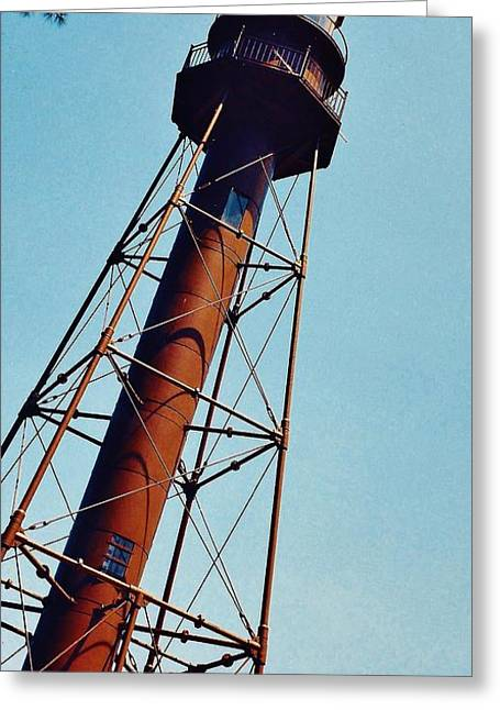 Best Seller Greeting Cards - Lighthouse on Sanibel Island Greeting Card by D Hackett