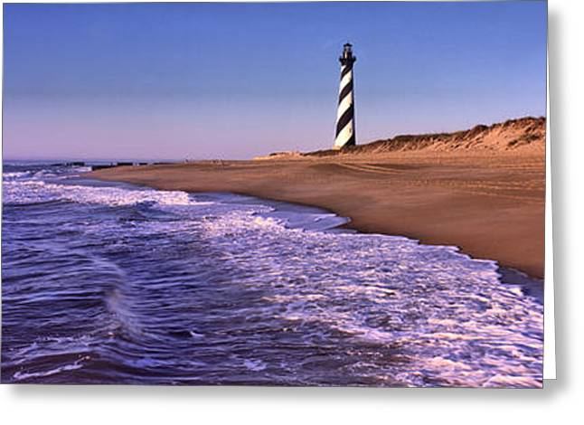 Cape Hatteras Greeting Cards - Lighthouse On The Beach, Cape Hatteras Greeting Card by Panoramic Images