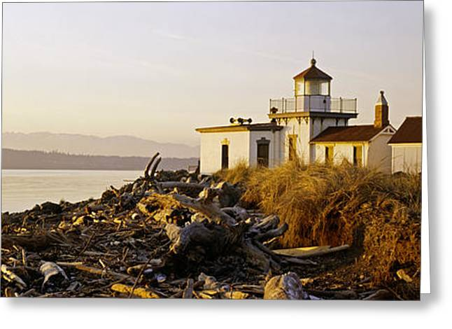 West Point Greeting Cards - Lighthouse On The Beach, West Point Greeting Card by Panoramic Images