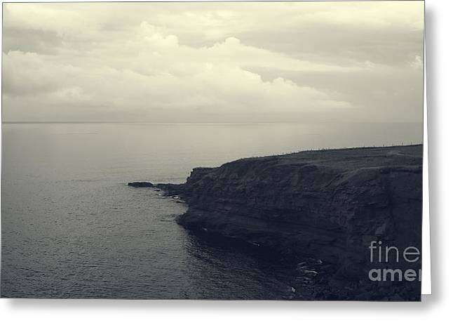 Cliffs And Water Greeting Cards - Lighthouse on the Cliff Greeting Card by Edward Fielding