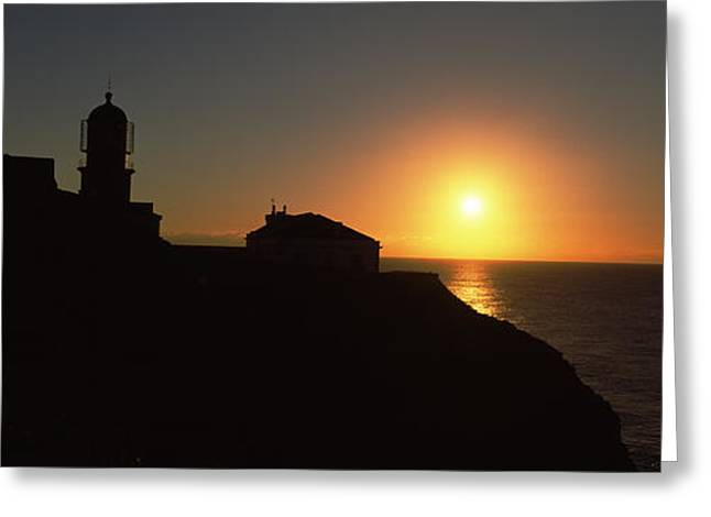 Sao Greeting Cards - Lighthouse On The Coast, Cape Sao Greeting Card by Panoramic Images