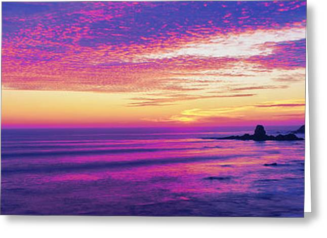 Pigeon Point Lighthouse Greeting Cards - Lighthouse On The Coast, Pigeon Point Greeting Card by Panoramic Images