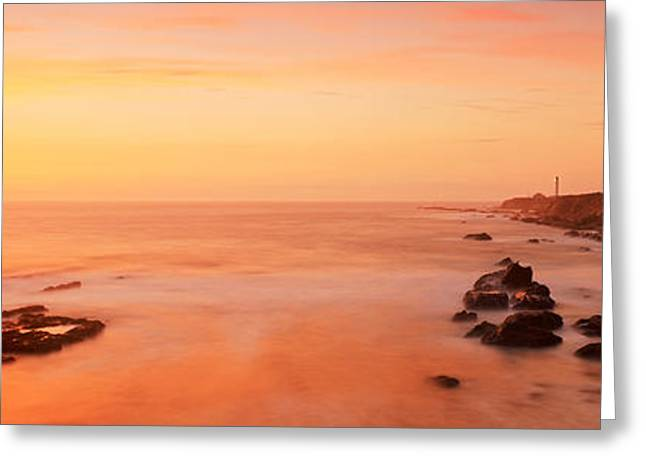 California Ocean Photography Greeting Cards - Lighthouse On The Coast, Point Arena Greeting Card by Panoramic Images