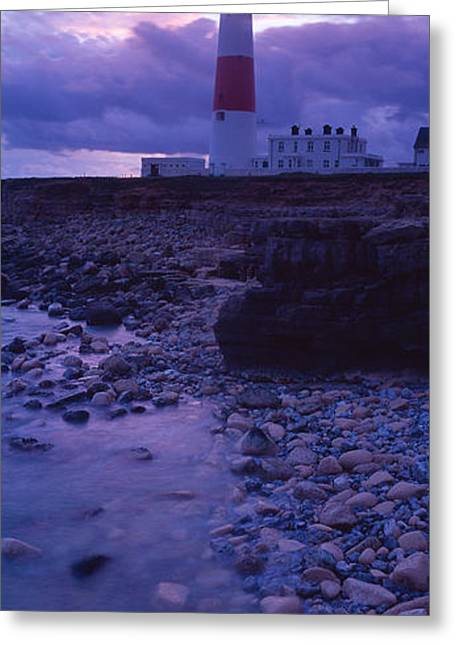 Non Urban Scene Greeting Cards - Lighthouse On The Coast, Portland Bill Greeting Card by Panoramic Images