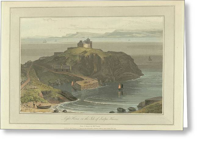 Lighthouse On The Isle Of Scalpa Greeting Card by British Library