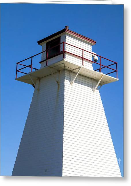 Keeper Greeting Cards - Lighthouse PEI Greeting Card by Edward Fielding