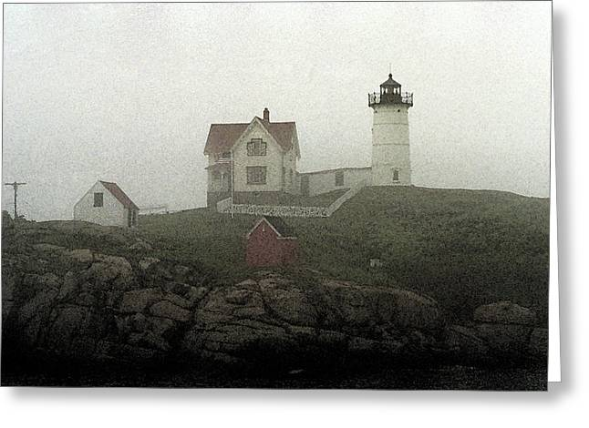 Enhanced Greeting Cards - Lighthouse - Photo Watercolor Greeting Card by Frank Romeo