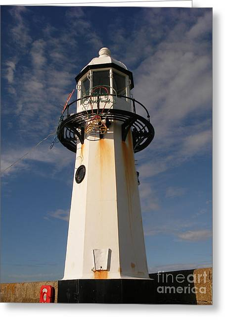 Lighthouse Digital Greeting Cards - Lighthouse  Greeting Card by Pixel  Chimp