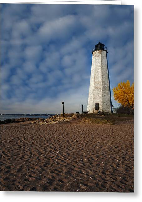 Connecticut Scenery Greeting Cards - Lighthouse Point Park  Greeting Card by Susan Candelario
