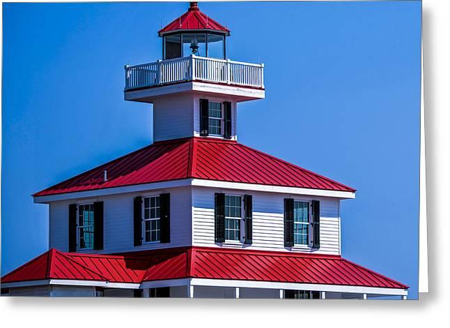 Lighthouse Pontchartrain Greeting Card by Renee Barnes