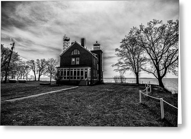 Sell Art Online Greeting Cards - Lighthouse Put-in-Bay Greeting Card by Kevin Cable