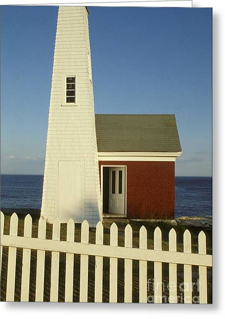 Maine Landscape Greeting Cards - Lighthouse Greeting Card by Ron Sanford