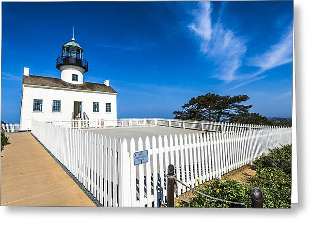 Historic Site Greeting Cards - Lighthouse Scene Greeting Card by Joseph S Giacalone