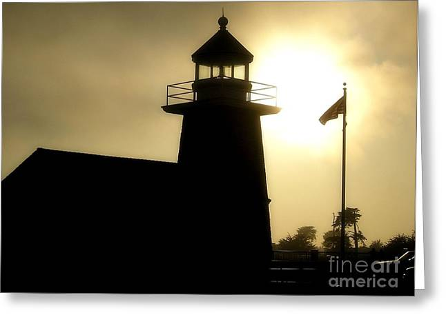 Santa Cruz Surfing Museum Greeting Cards - Lighthouse Shadow Greeting Card by Shauna Fackler