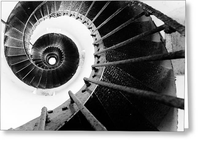 Geometric Image Greeting Cards - Lighthouse Staircase Greeting Card by Stylianos Kleanthous