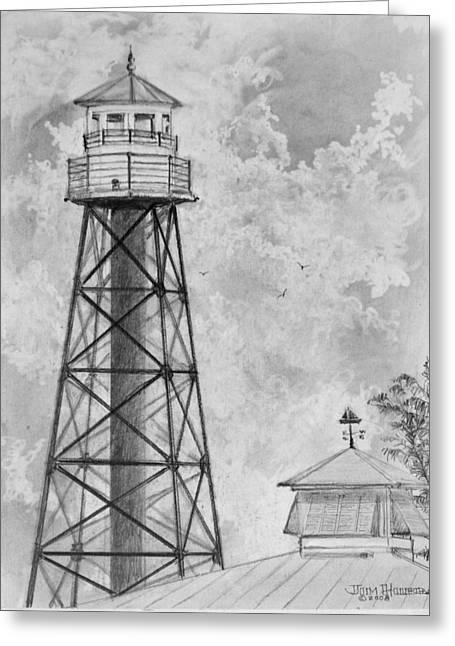 Lighthouse Sumter Landing Greeting Card by Jim Hubbard