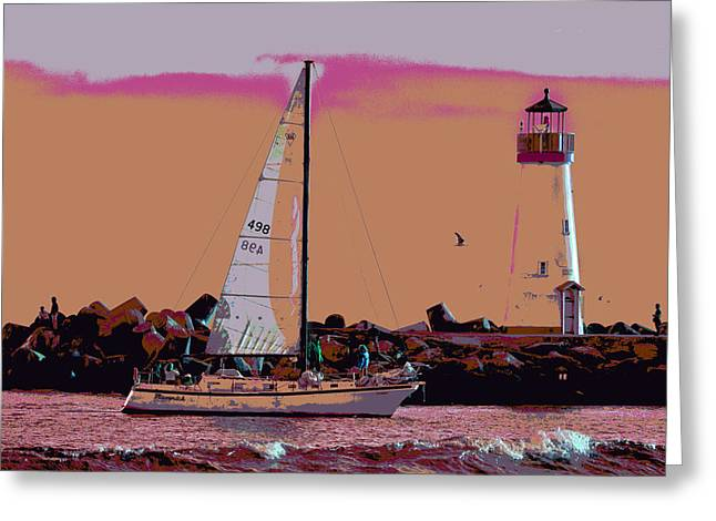 Lighthouse Tour 8940 Greeting Card by Tom Kelly