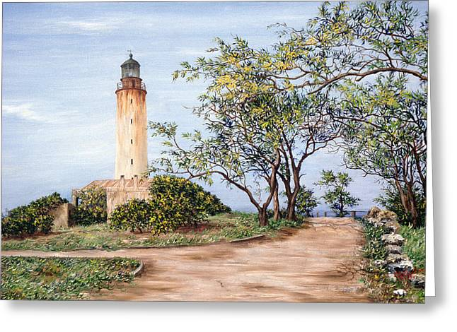 Caribbean Architecture Greeting Cards - Lighthouse Greeting Card by Victor Collector