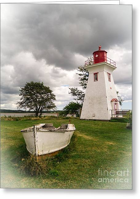 Pei Greeting Cards - Lighthouse Victoria by the Sea PEI Greeting Card by Edward Fielding