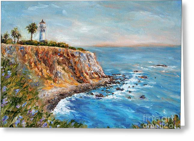 California Lighthouse Greeting Cards - Lighthouse View Greeting Card by Jennifer Beaudet