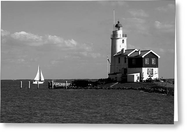 Sailing At Night Greeting Cards - Lighthouses Of The Netherlands Greeting Card by Aidan Moran