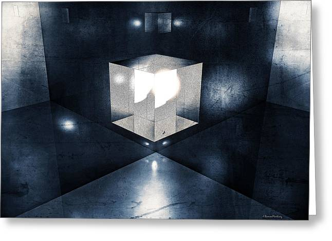 Modernism Greeting Cards - Lighting in cube Greeting Card by Ramon Martinez