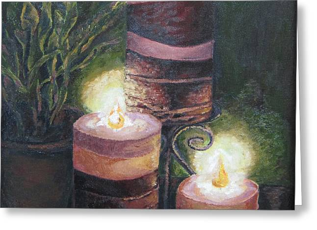 Lighting the dark corners Greeting Card by Prasida Yerra
