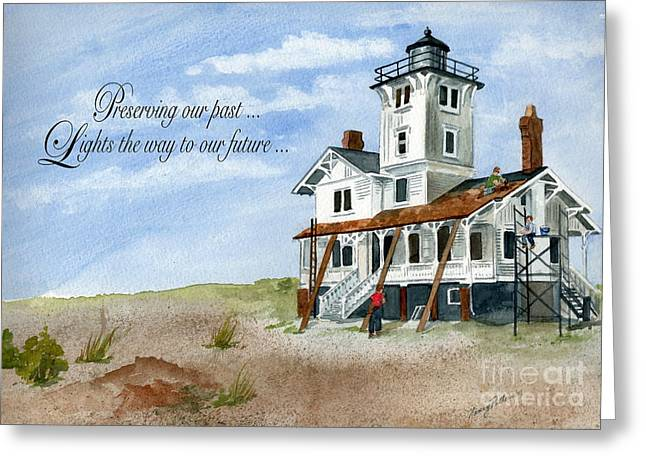 Restore The Shore Greeting Cards - Lighting The Future  Greeting Card by Nancy Patterson